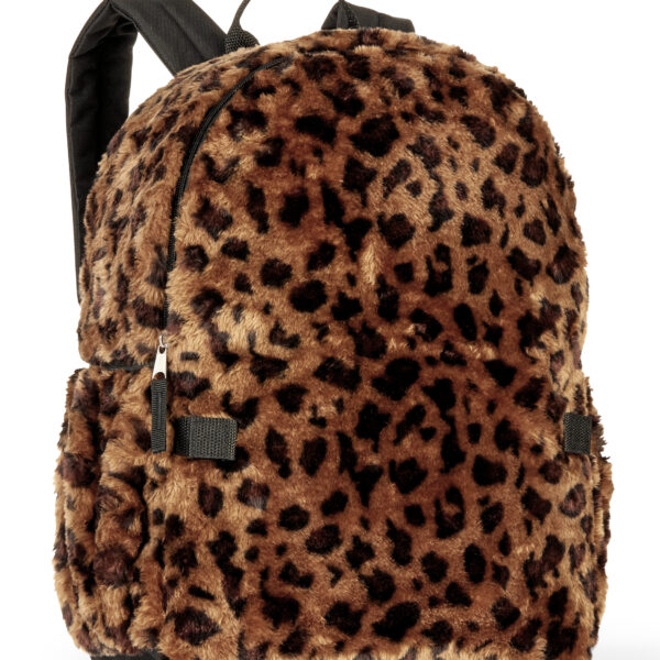 Girls' Leopard Fur Bulletproof Backpack